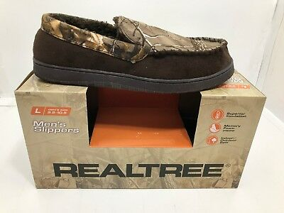2cc7443abf8186 Realtree Xtra Men's Moccasin Slippers CAMO/BROWN SIZE LARGE 9.5-10.5 NIB