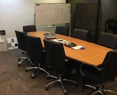 boardroom table, RRP $2400 3m x 1.2m