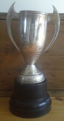 Large vintage ISLE of MAN Motoring silver plate trophy, trophy, silver, Longton
