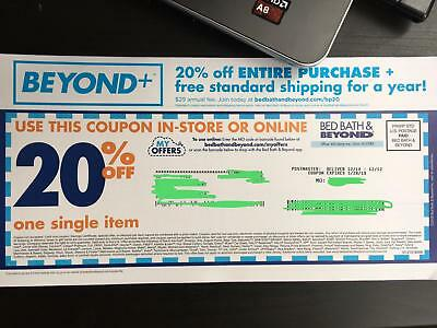 Bed Bath Beyond Coupon 20% off One item Online & In-Store Exp. 01/28/2019.