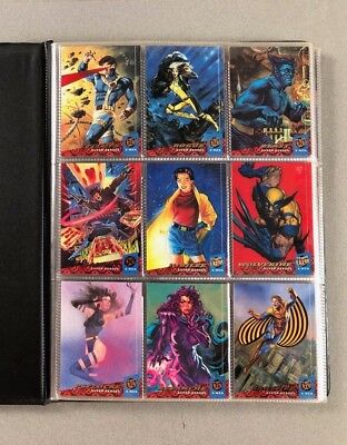 '94 Fleer Marvel Ultra X-Men Complete 150-Card Set +9-Card Subset Mint In Sheets