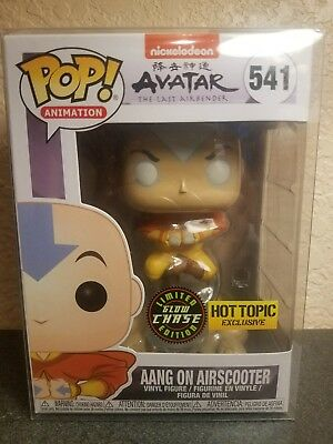 Funko Pop Animation 541 Aang on Airscooter Avatar Last Airbender Chase Hot Topic