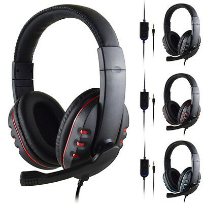 Gaming Headset Stereo Surround Headphone 3.5mm Wired Mic For PS4 Laptop Xbox new