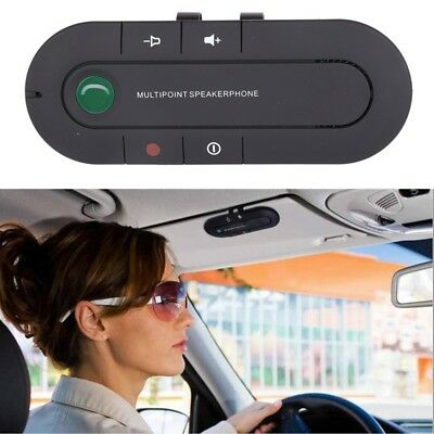 Universal Bluetooth Car Kit Wireless Handsfree Speaker Phone Visor For Phone US