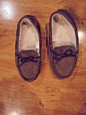 5cf643225e5 SONOMA Goods for Life Womens Moccasins Slippers M (7 8) Brown MSRP  30