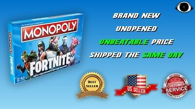 Monopoly: Fortnite Edition Board Game, Ages 13+, Brand New, FREE SHIPPING