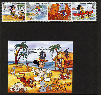 Never Hinged 1987 Micky Maus Dominica Block125 Unmounted Mint complete Issue