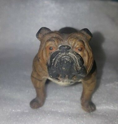 Vintage Collectibles Metal Handmade Figurine of English Bulldog