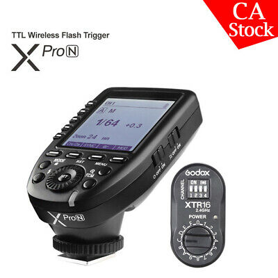 Godox XPro-N 2.4G TTL Wireless Flash Trigger+ XTR-16 Receiver For Nikon Camera