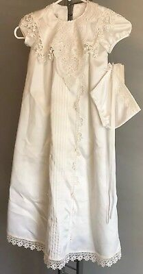 NEW JESSICA MCCLINTOCK Infant Size 6 Christening, Baptism Baby Gown- 3 Piece Set