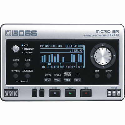 BOSS Micro BR BR-80 8-track Digital Recorder Audio Interface USB COSM Effects