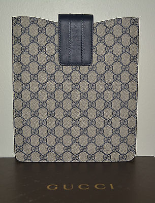 c777d5cf817 NIB GUCCI GUCCISSIMA CANVAS LEATHER iPAD CASE CARRIER SLEEVE MADE IN ITALY