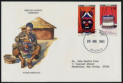 Lithuania 741-2 on addressed FDC - Pearl Mask, Basket with Lid, Crafts