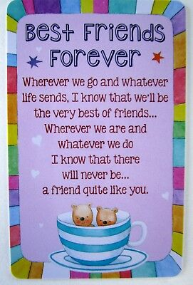 "Heartwarmer Keepsake Card ""best Friends Forever"" With Sweet Verse Birthday Gift"