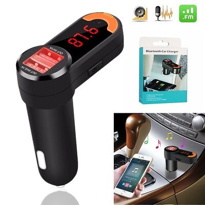 Wireless Bluetooth Car Kit MP3 Music Player FM Transmitter Radio With 2 USB Port