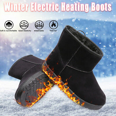 USB Electric Heating Shoes Boots Thermal Insoles Warm Foot Heater For Man Woman