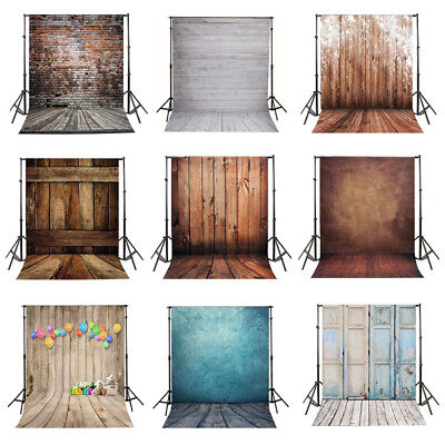 5x7FT/3x5FT Wooden Wall Photo Vinyl Studio Backdrop Background Home Studio Prop