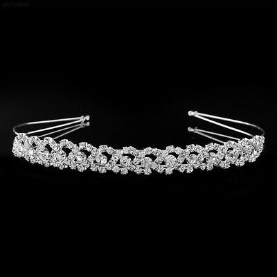 A823 Crystal Rhinestone Wedding Bridal Diamante Tiara Headband Clasp Glitter