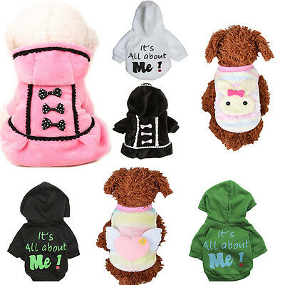 Pet Dog  Puppy Sweater Hoodie Coat For Small Pet Dog Warm Costume Apparel New L