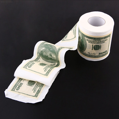 0CCB Creative Toilet Paper $100 USD Dollar Bill Money Roll Soft Rolls Toy Gift