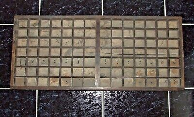 Letterpress Printing VERY OLD WOODEN TYPECASE DOUBLE CAPITALS Compositor's Case