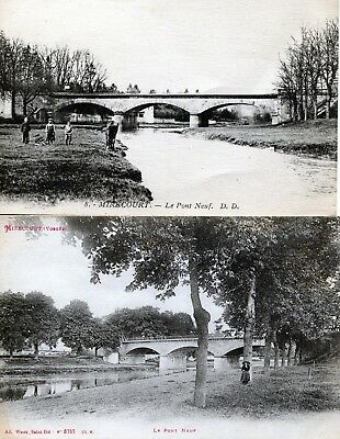 Lot Cpa Mirecourt - le pont Neuf