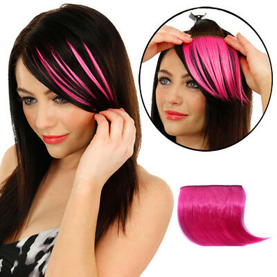 Pretty Girls Clip On Clip In Front Hair Bang Fringe Hair Extension Piece Thin US