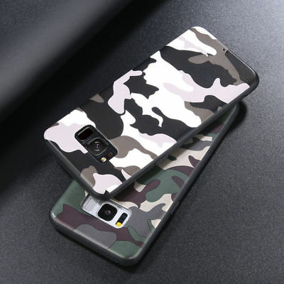 Armygreen Camo Camouflage Soft TPU Case Cover Protective For Samsung S9/8 Note 9