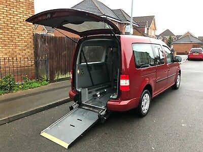 2010 VW Caddy Maxi Life TDI AUTO Wheelchair Disabled Accessible Vehicle 49k done