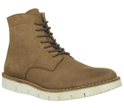Mens Ask The Missus Inflict Lace Boots Tan Suede Boots