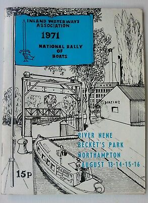 IWA Inland Waterways Assoc 1971 National Rally of canal boats Prog Northampton