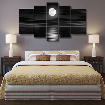 Unframed Full Moon Night Art Oil Painting Canvas Print Wall Picture Home Decor