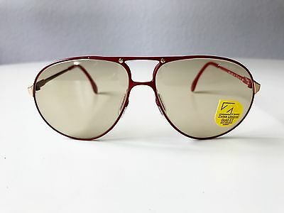 vintage ZEISS 9289 red sunglasses NOS Aviator 80s large West Germany no Cazal