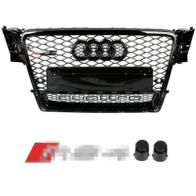 Front Bumper Grille Mesh Honeycomb Grill For Audi A4/S4 B8 RS4 Quattro 2009-2012