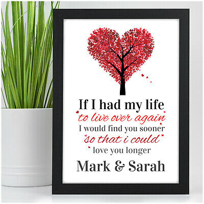 Valentines Day Gifts for Her Him Personalised Couples Presents Anniversary Gifts