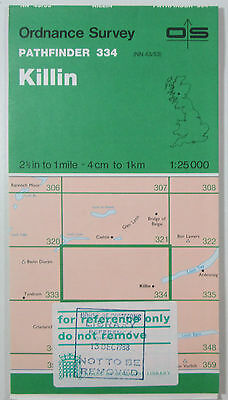 1988 old vintage OS Ordnance Survey 1:25000 Pathfinder map 334 Killin NN 43/53
