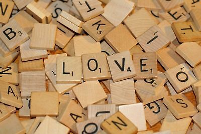 100Pcs Mix Wooden Letters Tiles Craft Alphabet Board Game Fun Toy Gift Scrabble