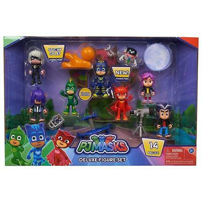 PJ Masks Deluxe Figures Set of 14 Pieces