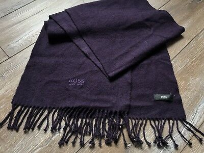 Hugo Boss Schal Tuchschal Scarf Shawl Cashmere Purple