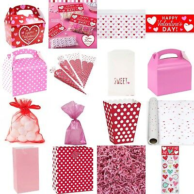 Valentines Day Bags & Boxes, Heart, Love, Party, Cupid, Flowers, Rose