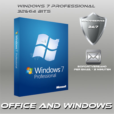 Microsoft Windows 7 Professional, Win 7 Pro OEM, Produktkey per E-Mail