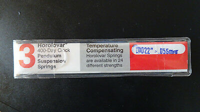 New Quality Horolovar  400 Day Clock Suspension Springs size .056mm - pk 4