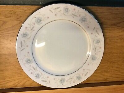 Japan #1221 ENGLISH GARDEN Fine China PLATES with PLATINUM TRIM Dinner Free ship