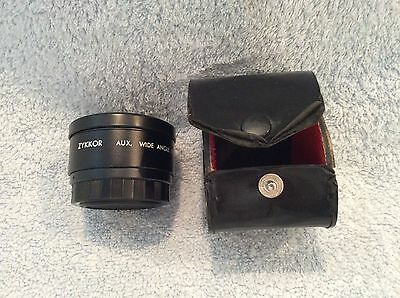 Zykkor AUX Wide Angle Lens Distance To Object 2M-Infinity Made In Japan Case
