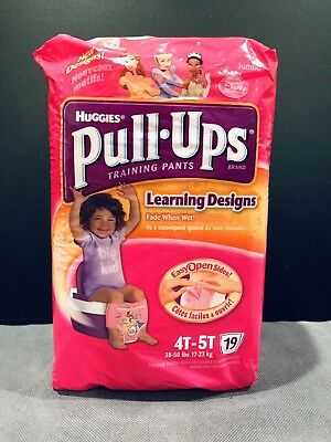 ULTRA RARE Vintage 2010 Huggies Princess Pull Ups Diapers 4T-5T - 19 Count Pack