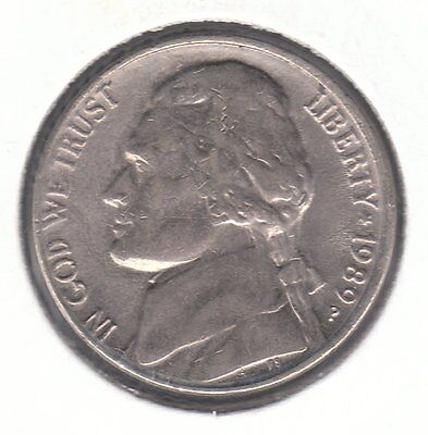 United States 1989 P 5 Cents Copper-Nickel Coin - Jefferson Nickel