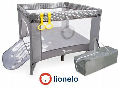 Portable Child Baby Infant Playpen Travel Cot Bed Crawl Play Area Grey