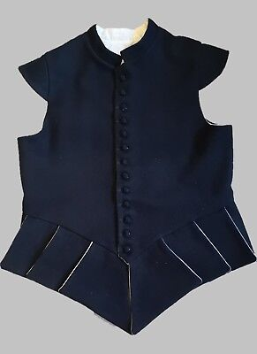 "17th Century Waistcoat - Black - Fits up to 48"" Chest"