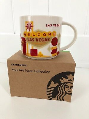 Starbucks LAS VEGAS You Are Here (YAH) 14oz Mug Cup NEW IN BOX, 2015