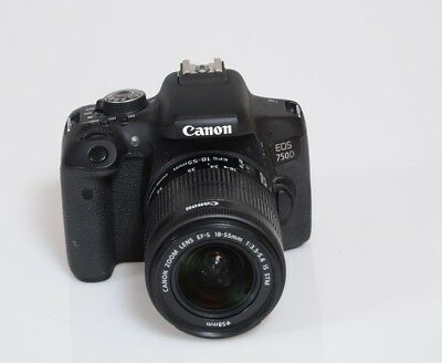 Canon EOS EOS 750D 24.2MP Digital SLR Camera - Black with 18-55mm Lens STM IS
